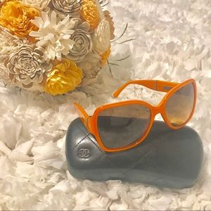 Chanel Orange Sunglasses